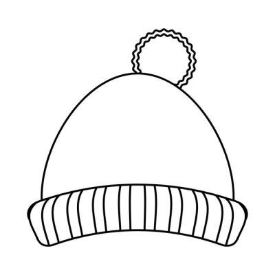 Chapeau d'hiver vêtements noir et blanc