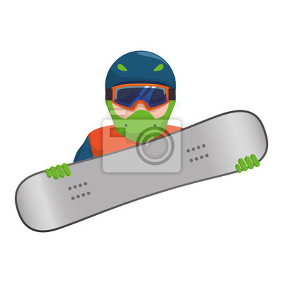 character snowboard athlete icon