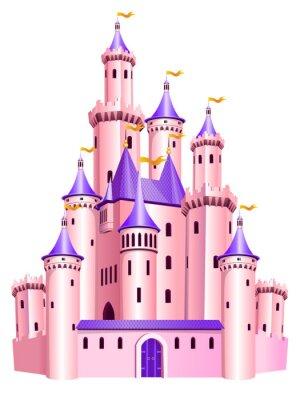 Posters Château princesse rose.