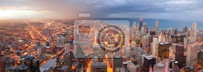 Chicago centre-ville panorama aérien