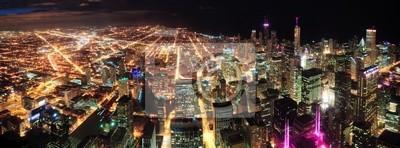 Chicago Nuit vue panoramique