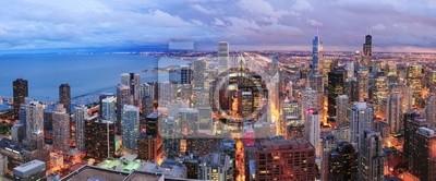 Chicago skyline panorama vue aérienne