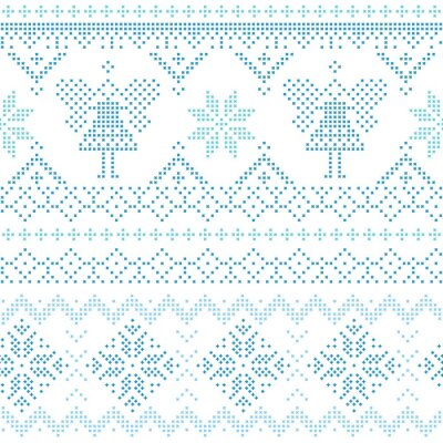 Posters Christmas Scandinavian Card - for invitation, wallpaper