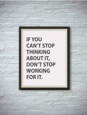 Posters Citation de motivation inspirante sur le cadre d'image.
