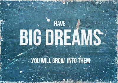 Posters Citation de motivation sur fond rustique de grands rêves