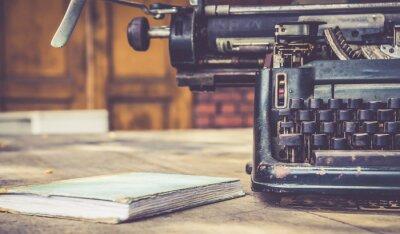 Posters Close up de la machine à écrire retro vintage style