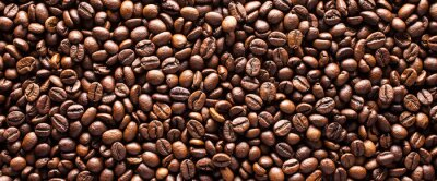 Posters Coffee beans background