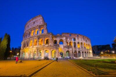 Posters Colisée de nuit à Rome, Italie