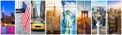 Posters Collage de panorama de New York City