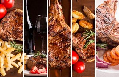 Posters Collage de photos de viande grillée
