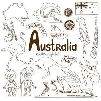 Posters Collection d'icônes Australie