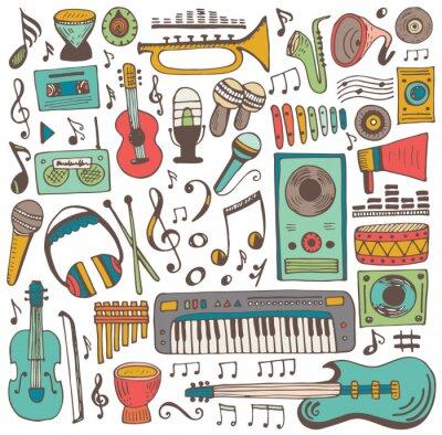 Posters Collection de doodle de musique