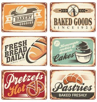 Posters Collection de signes de boulangerie Vector vintage