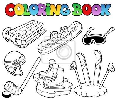 Coloration du livre équipement de sport d'hiver