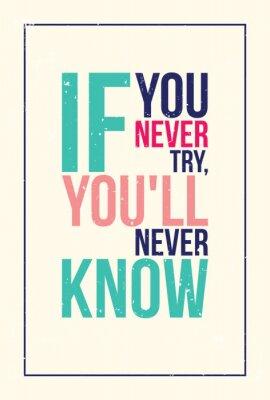 Posters coloré affiche inspiration motivation. style grunge