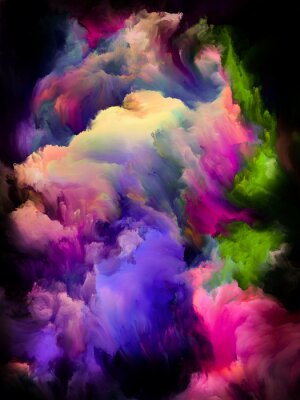 Posters Colorful Cloud Abstraction
