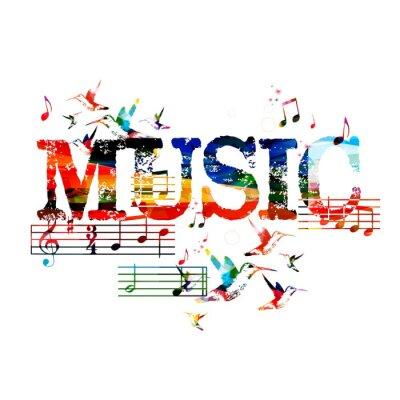 Posters Colorful fond de musique
