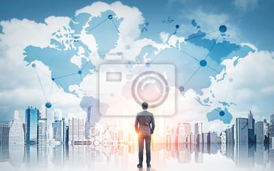 Posters Concept d'affaires internationales