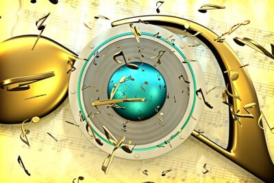 Posters concept de la musique
