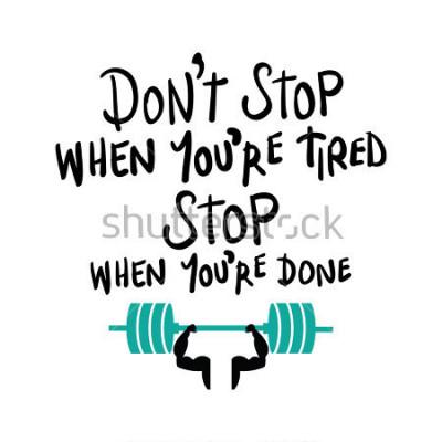 Posters Concept de motivation d'entraînement gym fitness musculation / conception d'impression vectorielle