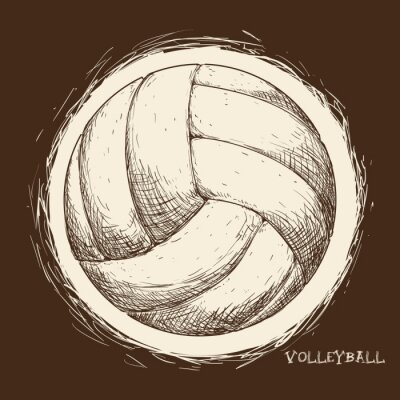 Posters Conception d'icônes de volley-ball