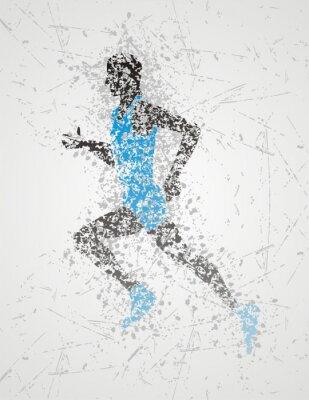 Posters conception de l'athlète