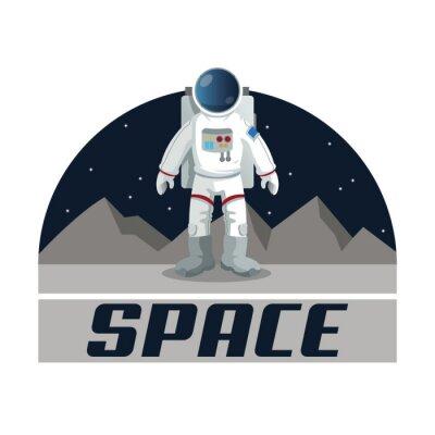 Posters Conception de l'icône de l'espace