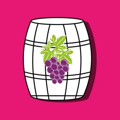 Posters Conception de l'icône du vin