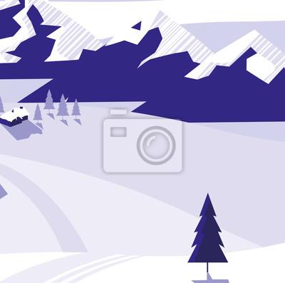 conception de paysage de neige