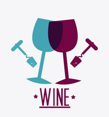 Posters conception de vin.