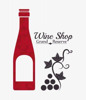 Posters Conception numérique de vin.