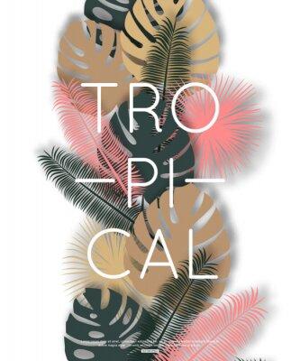 Posters Conception tropicale pour bannière, affiche. Illustration vectorielle.