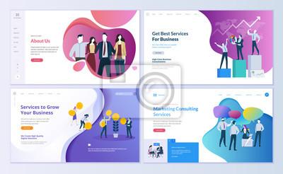 Posters Concepts d'illustration vectorielle moderne pour le développement de sites Web et de sites Web mobiles.