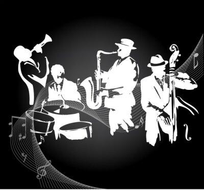 Posters Concert de jazz fond noir