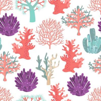 Posters Coraux seamless pattern