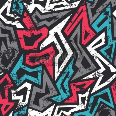 Posters couleur graffiti seamless effet grunge