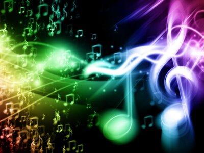 Posters Couleur musique de fond