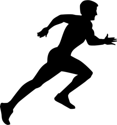 Posters Courir Sprint Silhouette