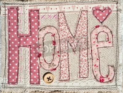 Posters cousu shabby chic de texte de la maison décoration fond
