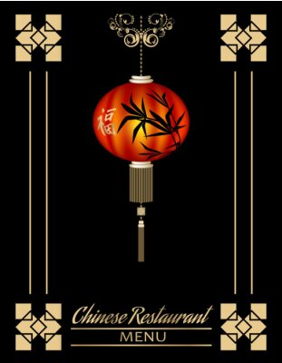 Posters Couverture menu restaurant chinois