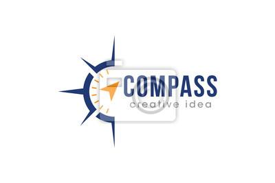 Posters Creative Compass Concept Logo Design Template