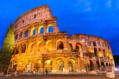 Posters Crépuscule Colisée, Rome, Italie