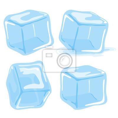 Posters Cubes, glace, cube, cube, vecteur, ensemble, blanc, fond