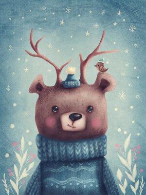 Posters Cute brown bear