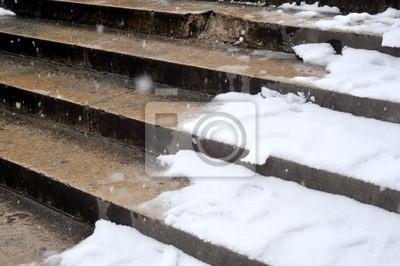 DANS neige des escaliers
