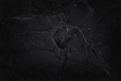 Posters Dark grey black slate texture in natural pattern with high resolution for background and design art work. Black stone wall.