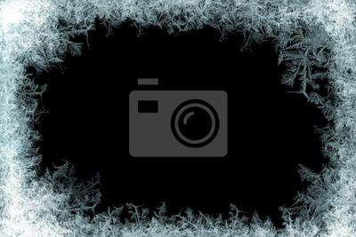 Posters Décoratif, glace, cristaux, cadre, noir, mat, fond