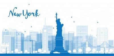 Posters Décrire toits de New York avec des gratte-ciel