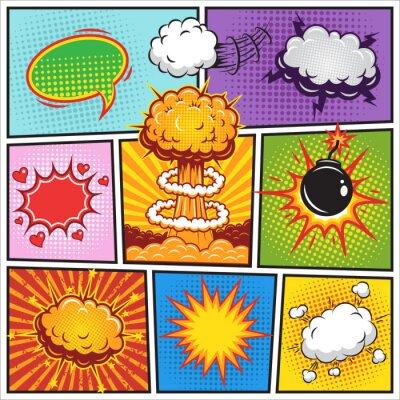 Posters Définir de la bande dessinée et l'explosion des bulles speach 2
