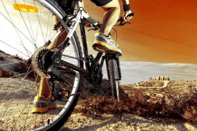 Posters Deportes. Bicicleta de montaña y hombre.Deporte en extérieur